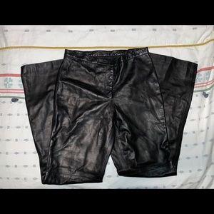 Michael Kors Black Leather High Waisted Pants
